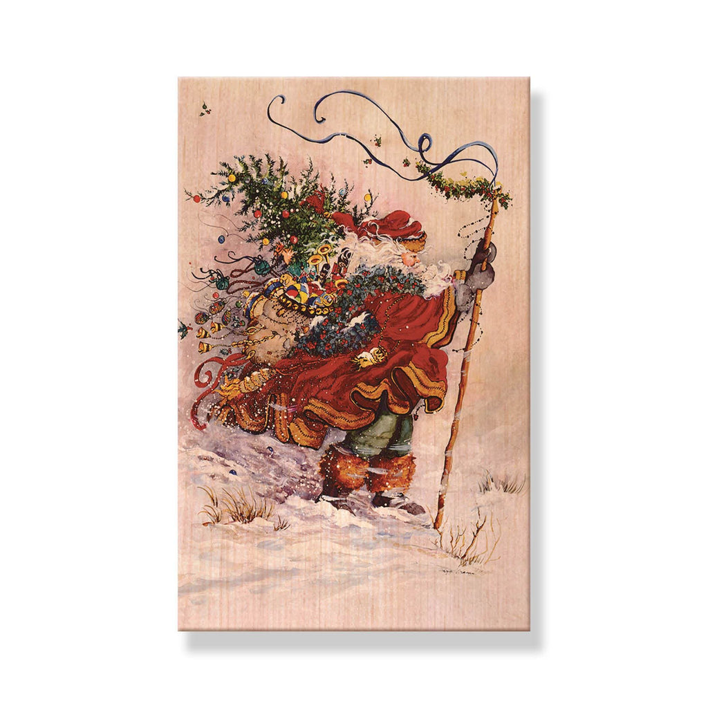 Abrams' Stormy Santa - Mailable Wood Postcard - Single Image Multi Pack DaydreamHQ