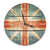 British Flag Wood Wall Clock - Indoor & Outdoor Decor DaydreamHQ Pine Wall Art 16""