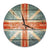 British Flag Wood Wall Clock - Indoor & Outdoor Decor DaydreamHQ Pine Wall Art 24""