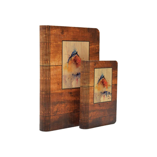 "Baby Bluebird - One Piece Wood Journal DaydreamHQ Gift 4""x6"""