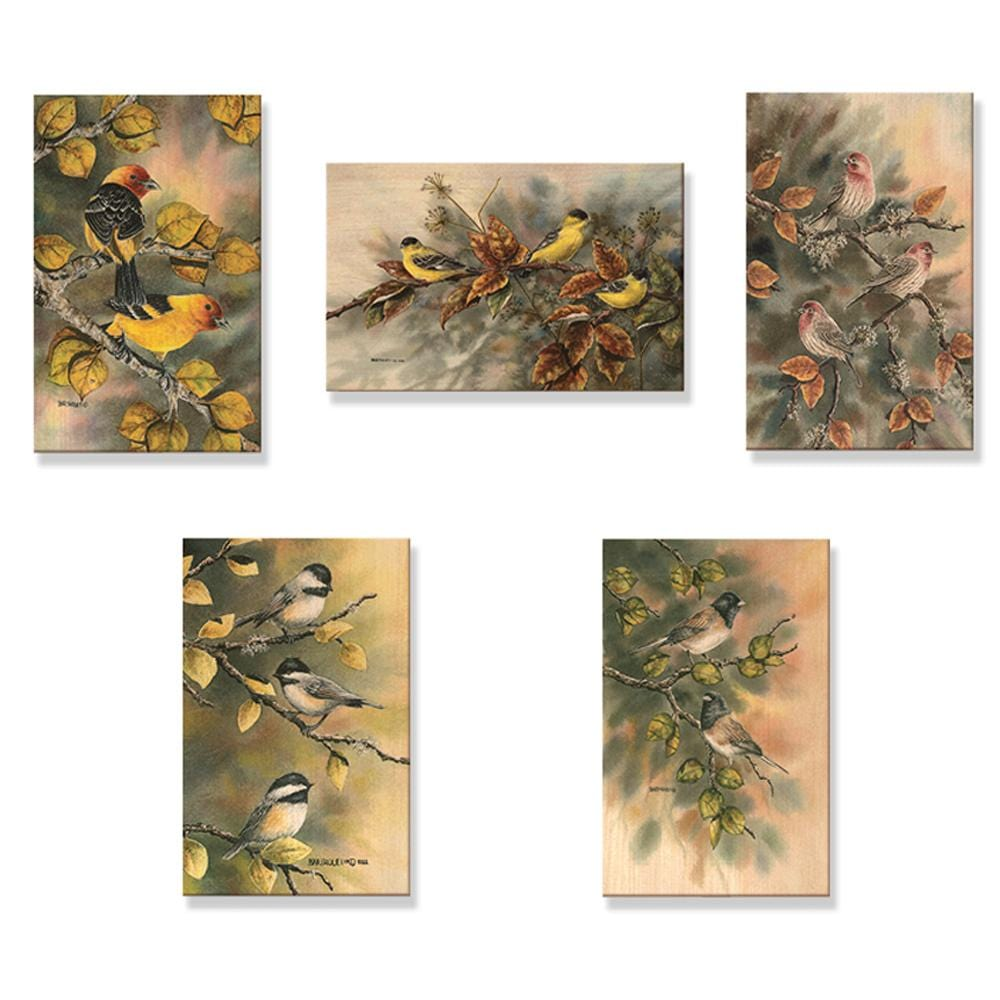 Bartholet's Birds Of A Feather - Mailable Wood Postcards - 5 pack DaydreamHQ Postcard