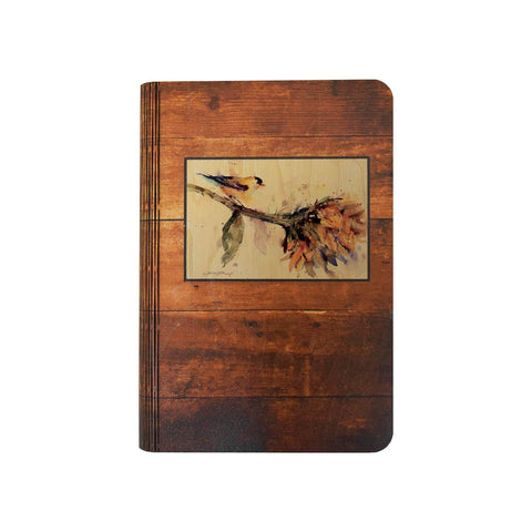 Crouser's Bird & Sunflower - One Piece Wood Journal