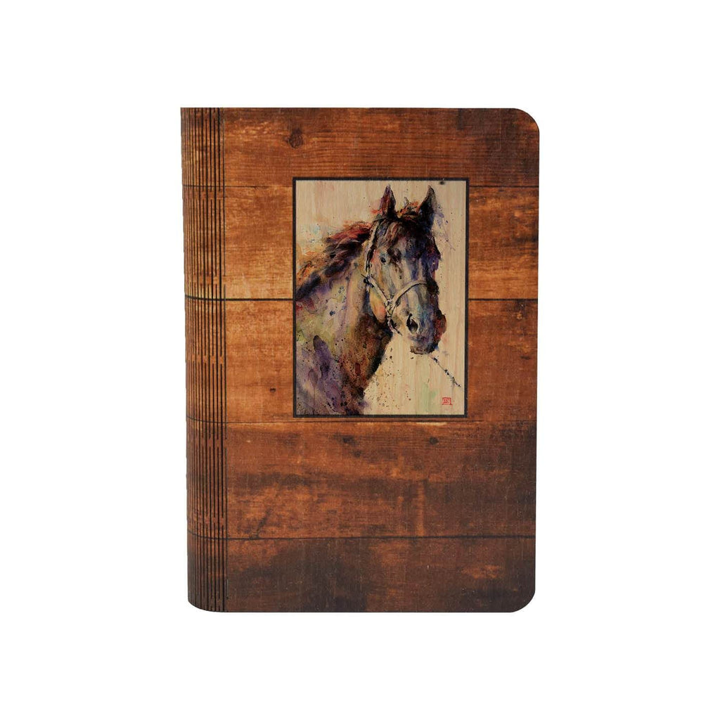 Black Stallion - One Piece Wood Journal DaydreamHQ Gift