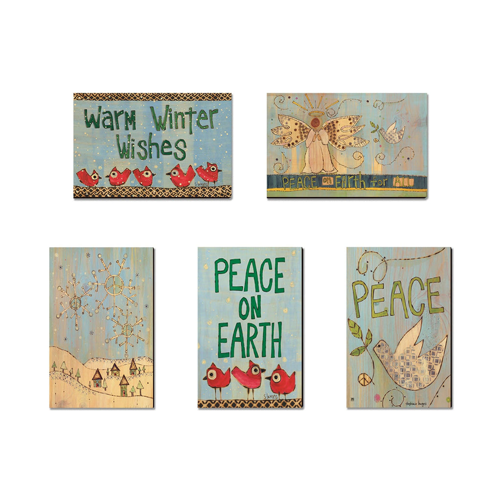 Burgess' Holiday Set 2 - Mailable Wood Postcards - Mixed Image Multi Pack DaydreamHQ Postcard 5 Pack