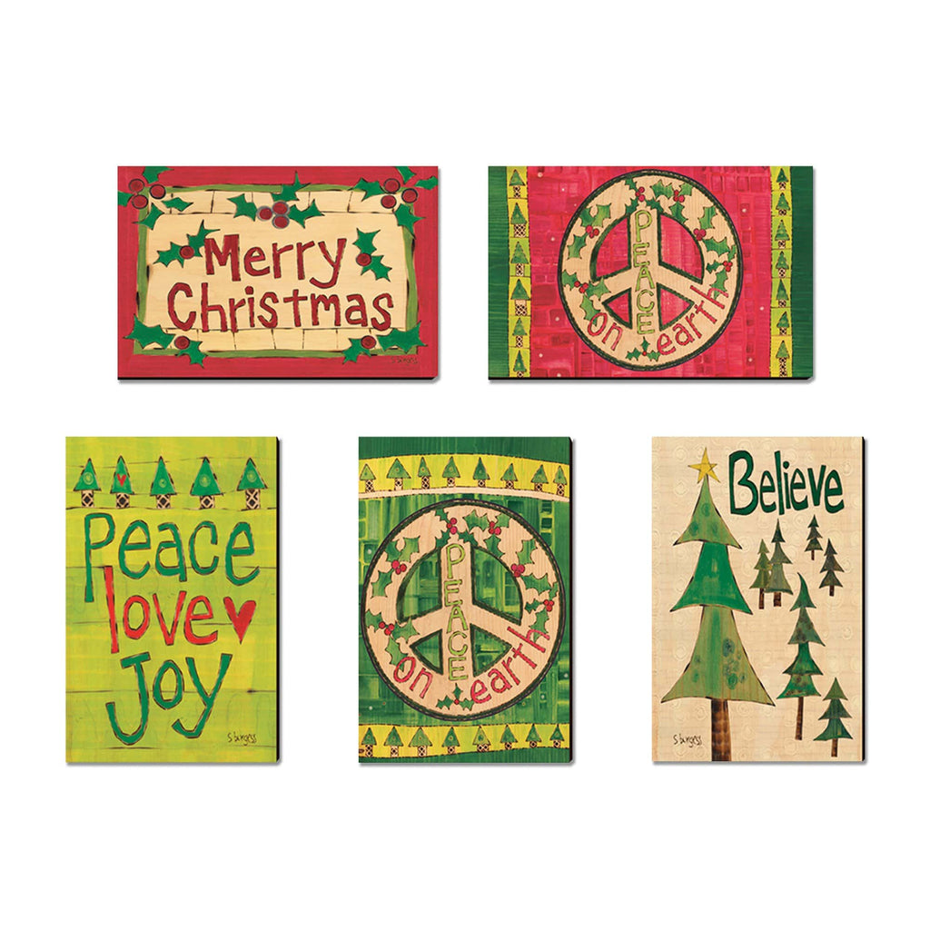 Burgess' Holiday Set 3 - Mailable Wood Postcards - Mixed Image Multi Pack DaydreamHQ Postcard 5 Pack