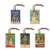 Burgess' Holiday Set 1  - Pack of 5 Solid Wood Ornaments Daydream HQ Ornament