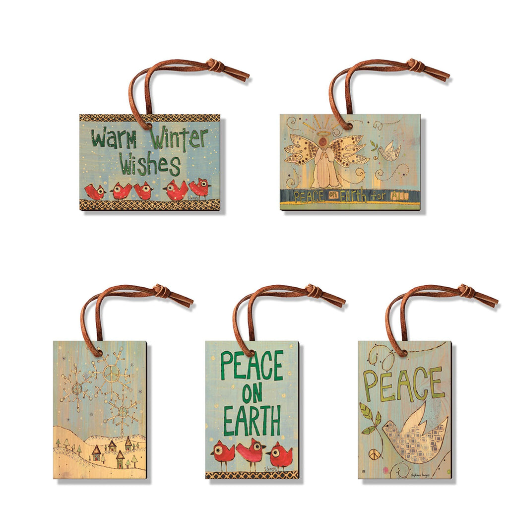Burgess' Holiday Set 2 - Pack of 5 Solid Wood Ornaments DaydreamHQ Ornament