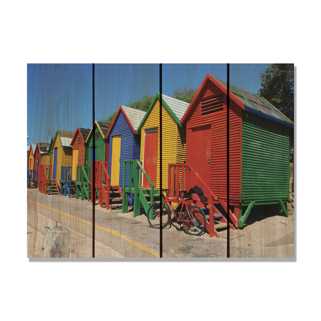 Colored Cabanas - Colorful Wood Wall Art DaydreamHQ FenceEscape 22x16