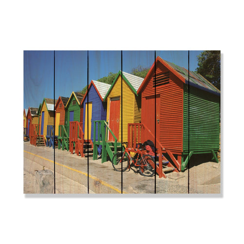Colored Cabanas - Gizaun Art Outside by Mike FenceEscape 33x24