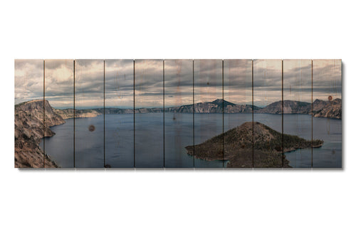 Crater Lake - Nature Wood Wall Art DaydreamHQ FenceEscape 60x20