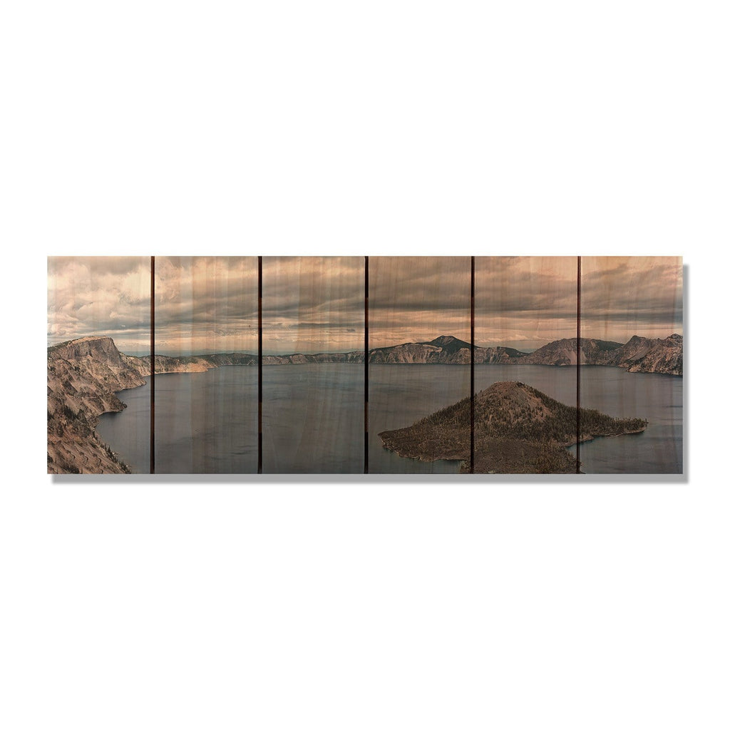 Crater Lake - Nature Wood Wall Art DaydreamHQ FenceEscape 32x11
