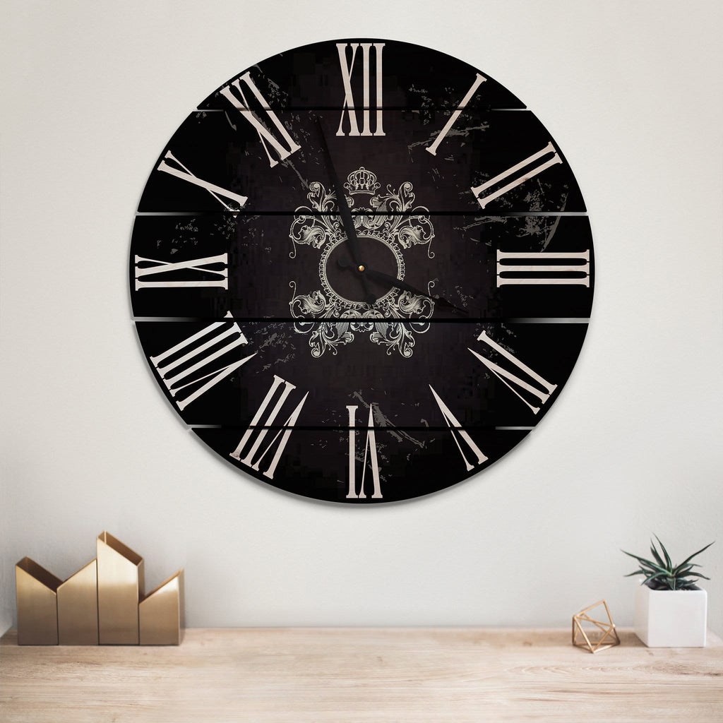 Parisian Wood Wall Clock- Indoor & Outdoor Decor Outside by Mike FenceEscape