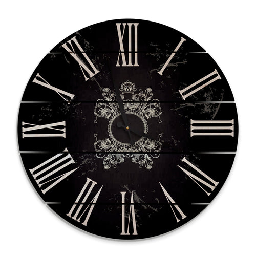 Parisian Wood Wall Clock- Indoor & Outdoor Decor Outside by Mike FenceEscape 24""