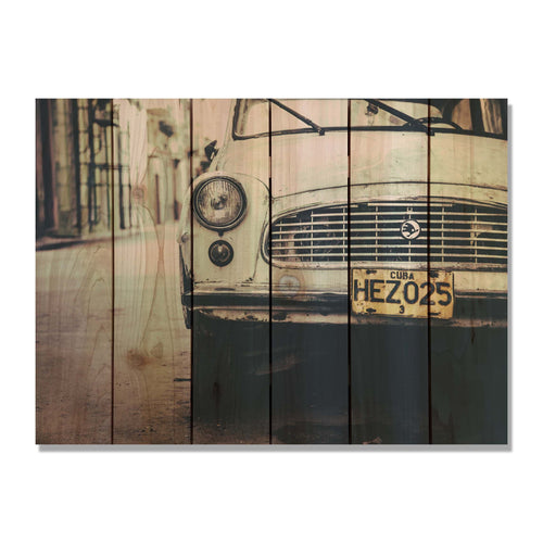 Cuba Cruising - Retro Car Wood Wall Art DaydreamHQ FenceEscape 33x24