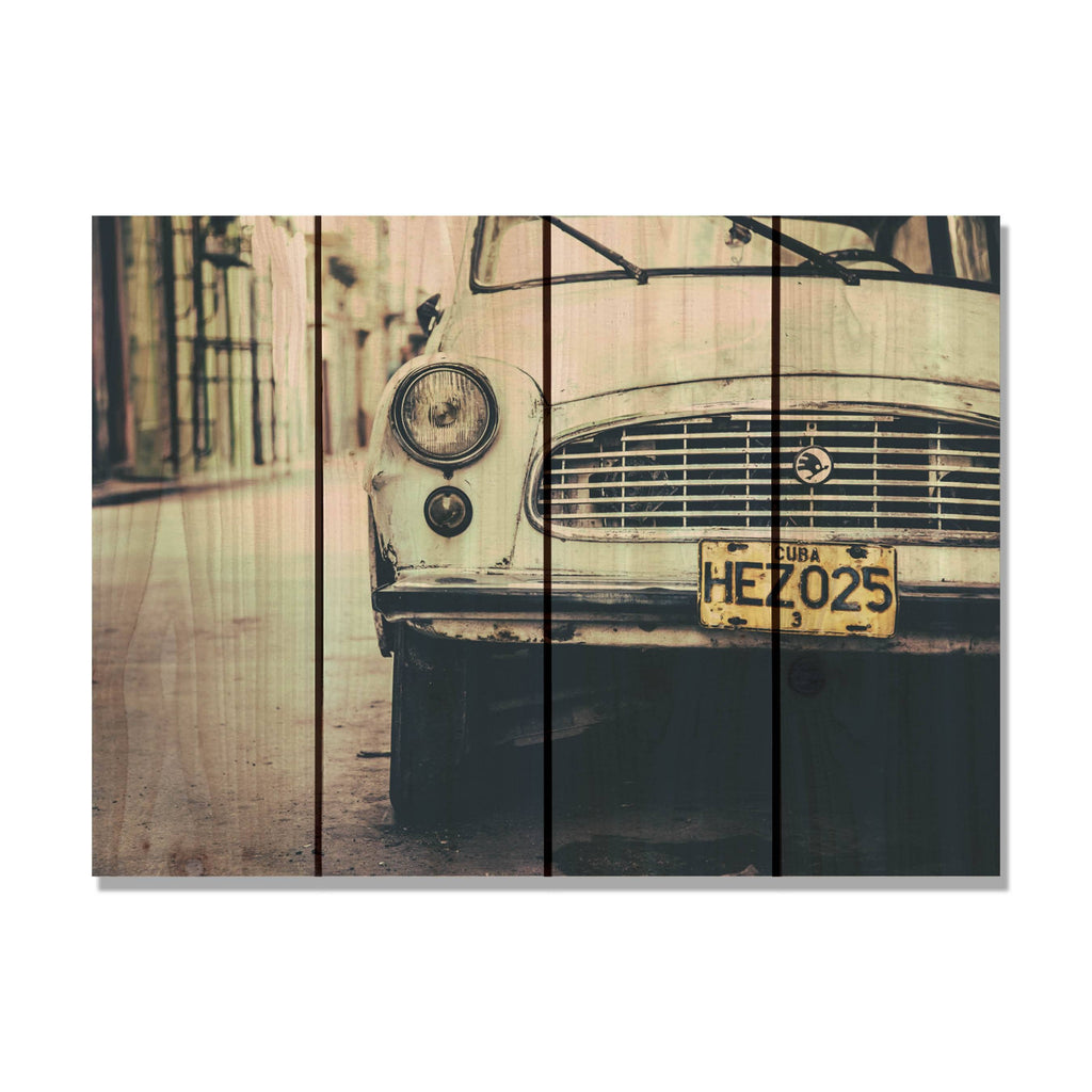 Cuba Cruising - Retro Car Wood Wall Art DaydreamHQ FenceEscape 22x16