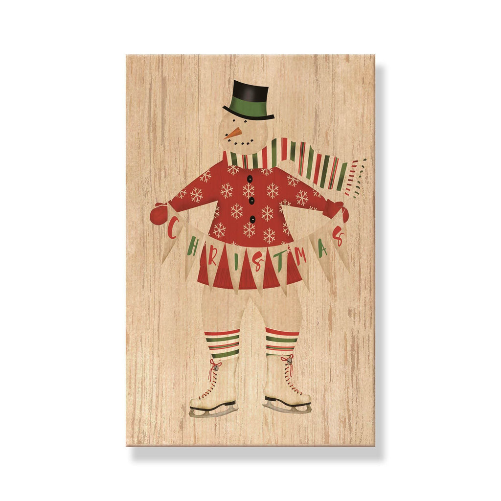 Christmas Snowman - Mailable Wood Postcard - Single Image Multi Pack DaydreamHQ