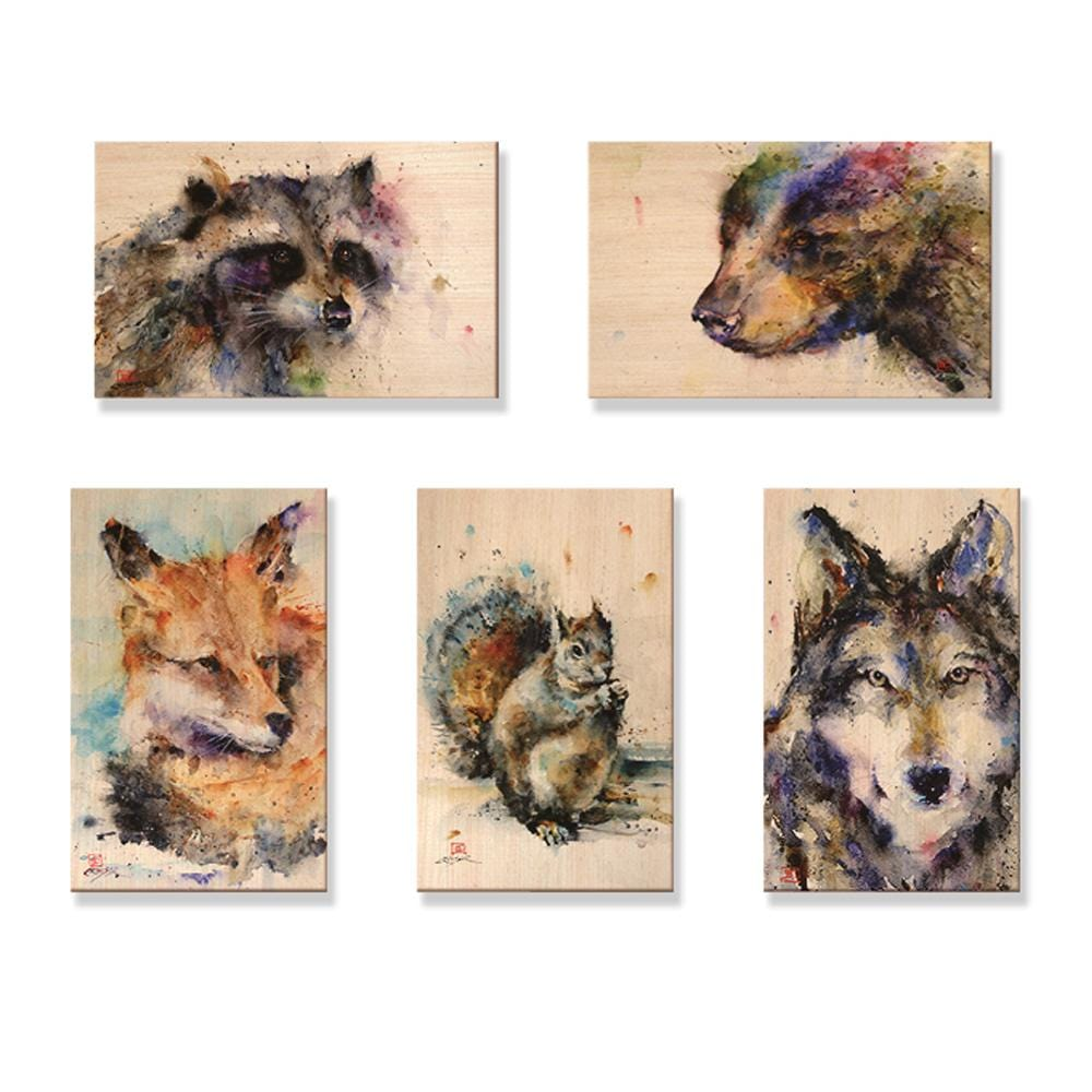 Crouser's Animal Pack - Mailable Wood Postcards - 5 pack Daydream HQ Postcard