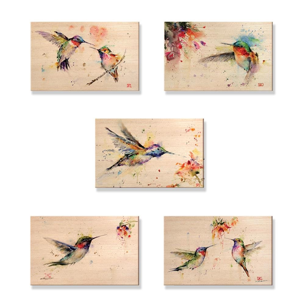 Crouser's Hummingbirds - Solid Wood Mailable Postcards - Pack of 5 Daydream HQ Postcard