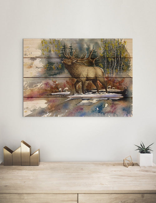 Bartholet's Autumn Music - Classic Pine Wood Artist Series DaydreamHQ Pine Wall Art