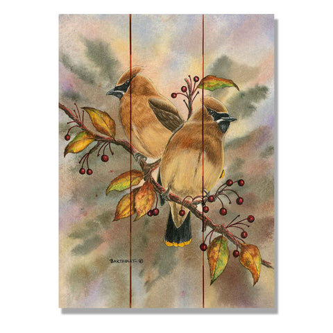 Bartholet's Cedar Waxwings - Wile E. Wood Art Signature Series™