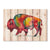 Colorful Bison by Bartholet DaydreamHQ Fine Art on Wood 33x24