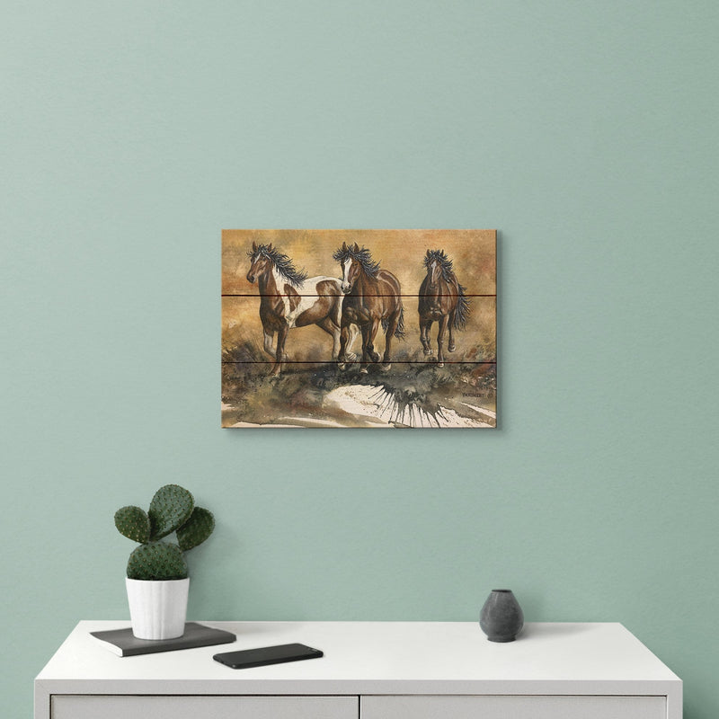 Touch of Wild by Dave Bartholet - Horse Wood Wall Art DaydreamHQ