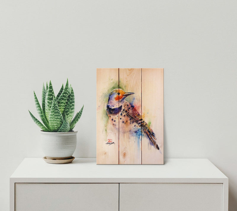 Colorful Bird by Dean Crouser - Wood Wall Art DaydreamHQ