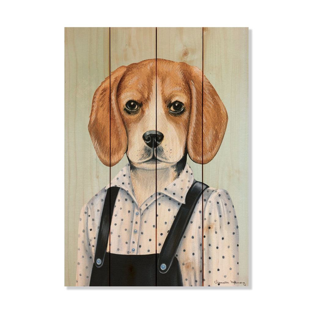 "Murray's Beagle - Classic Pine Wood Artist Series DaydreamHQ Pine Wall Art 14""x20"""