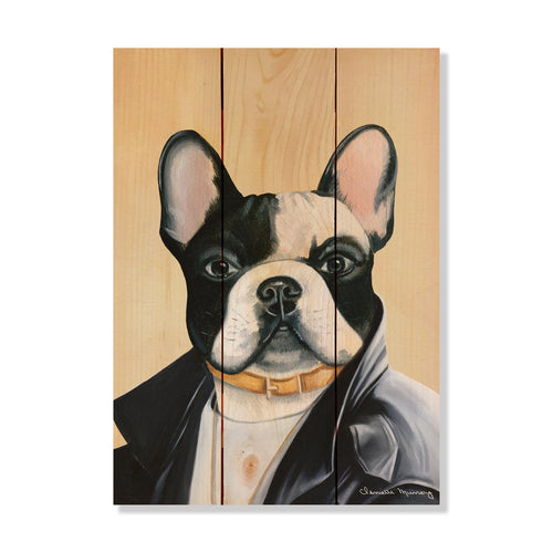 "Murray's French Bulldog - Classic Pine Wood Artist Series DaydreamHQ Pine Wall Art 11""x15"""
