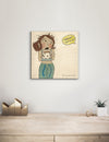 Solid Wood Wall Art - Illustrations by Em's Morning Sunshine - 12x12 DaydreamHQ Pine Wall Art 12x12