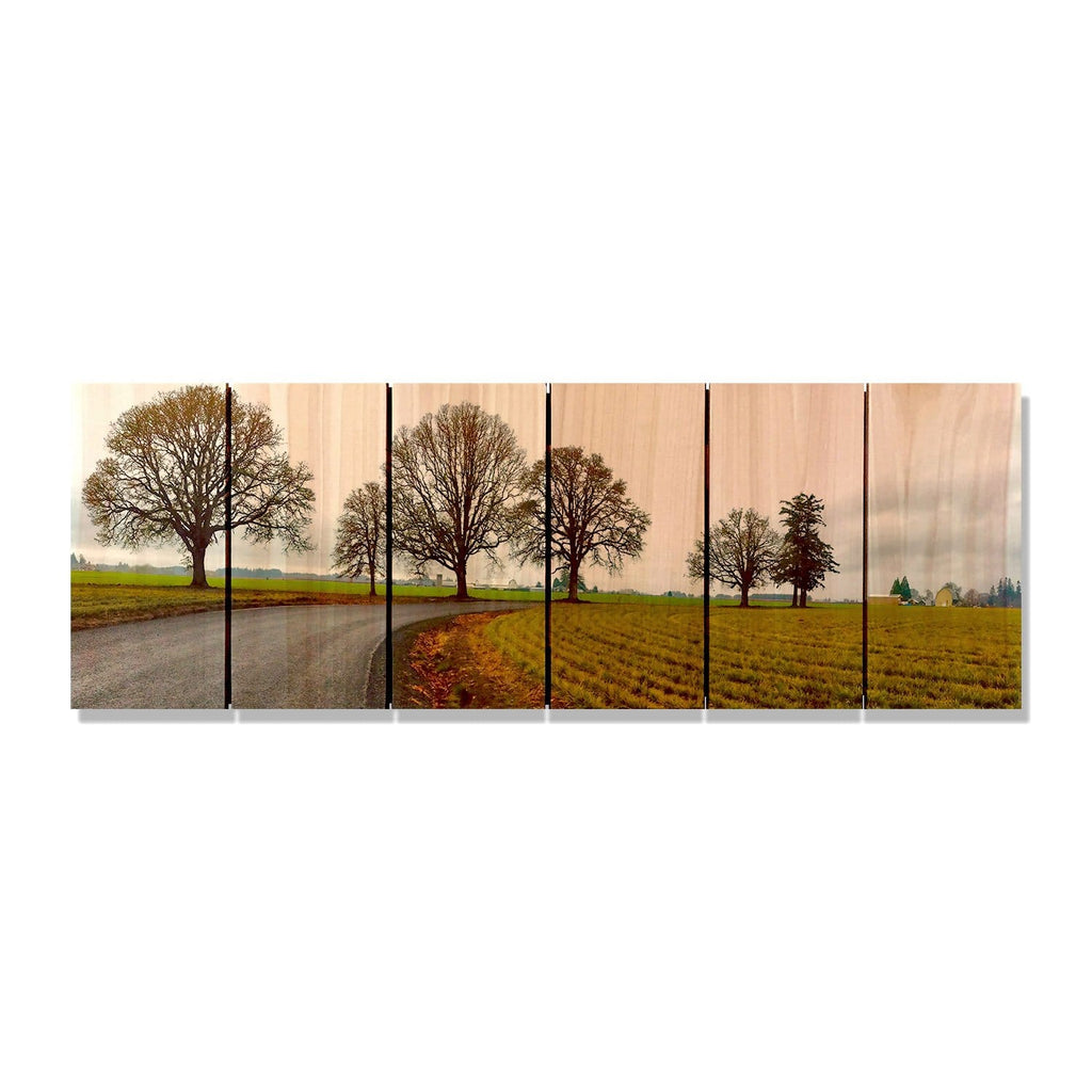 Old Country Road - Wood Wall Art DaydreamHQ FenceEscape 32x11