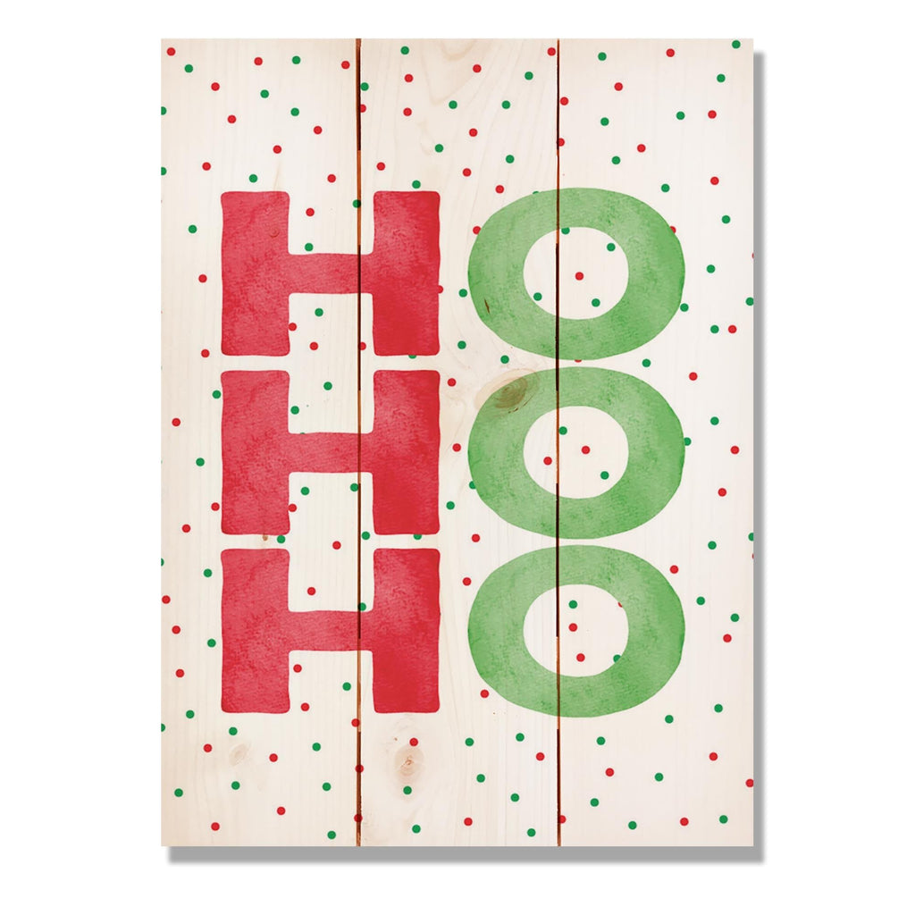 "Ho Ho Ho - Classic Pine Wood Art DaydreamHQ Pine Wall Art 11""x15"""