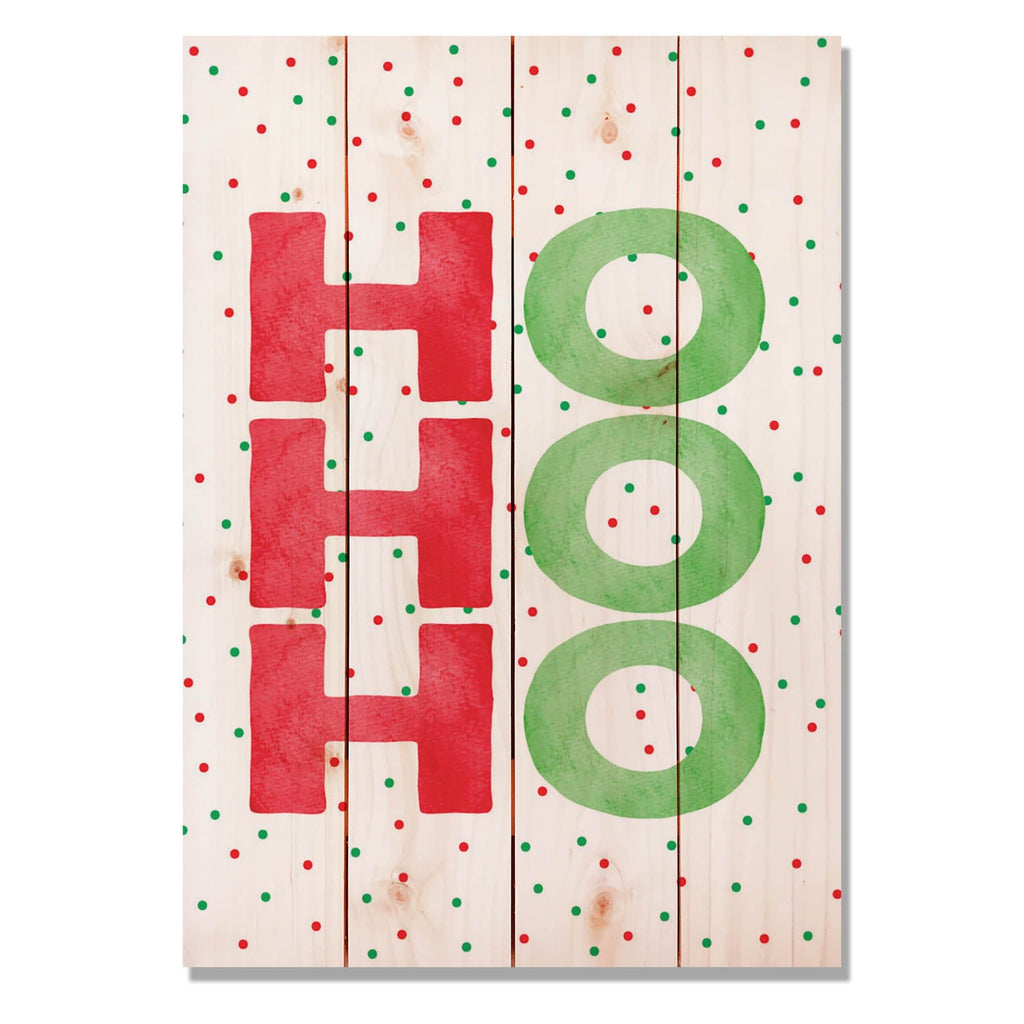 "Ho Ho Ho - Classic Pine Wood Art DaydreamHQ Pine Wall Art 14""x20"""