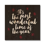 Most Wonderful Time - Classic Pine Wood Art Art