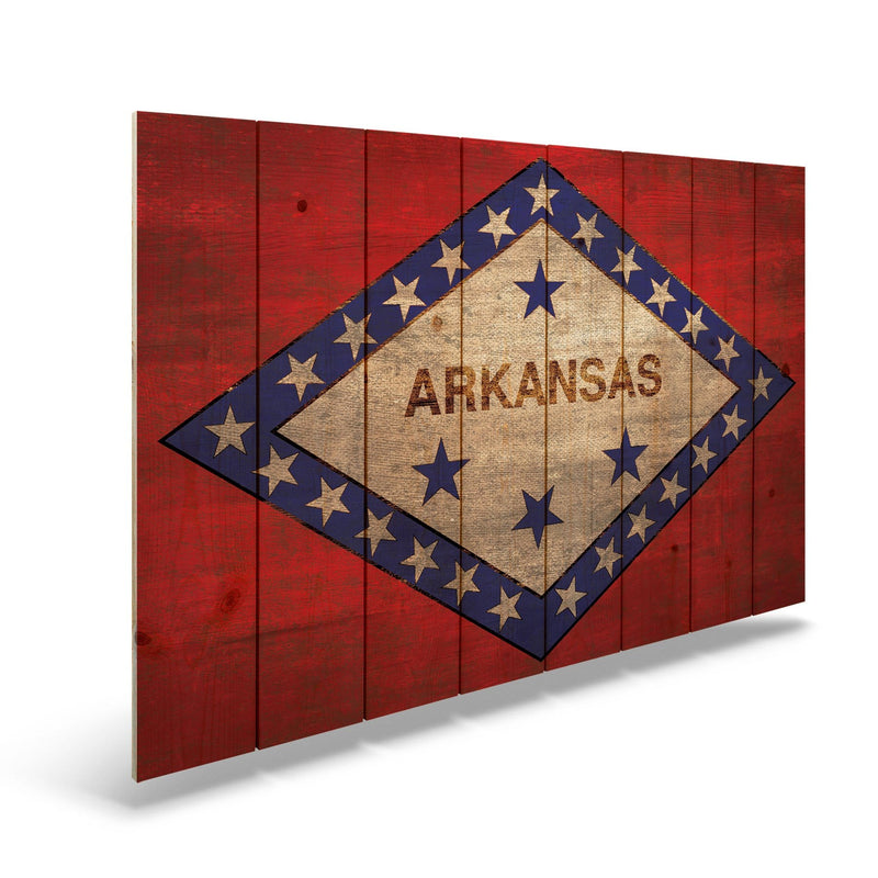 Tennessee State Historic Flag on Wood - Indoor & Outdoor Wall Art