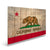 California State Historic Flag on Wood - Indoor & Outdoor Wall Art