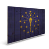 Indiana State Historic Flag on Wood - Indoor & Outdoor Wall Art