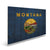 "Montana State Historic Flag on Wood - Indoor & Outdoor Wall Art DaydreamHQ Pine Wall Art 44""x30"""