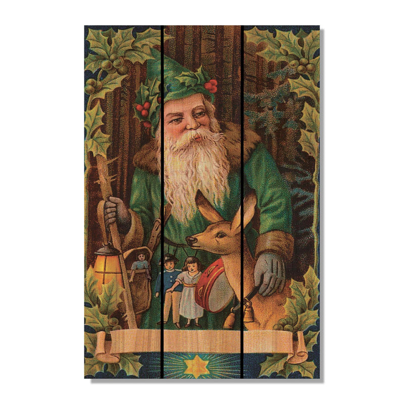 Forest Santa - Gizaun Art Outside by Mike FenceEscape 16x24