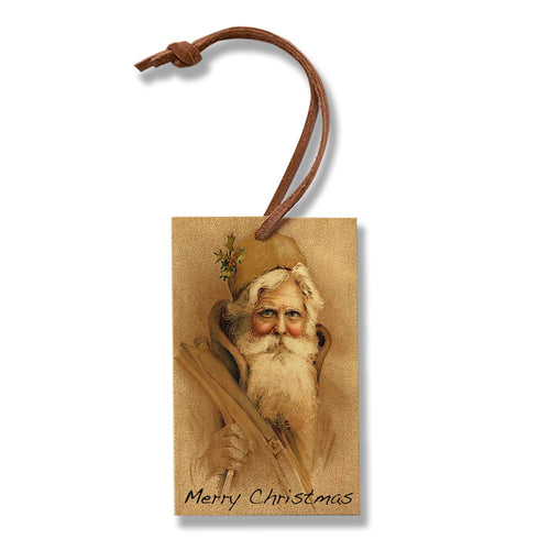 Vintage Santa Set - Pack of 5 Wood Ornaments DaydreamHQ Ornament