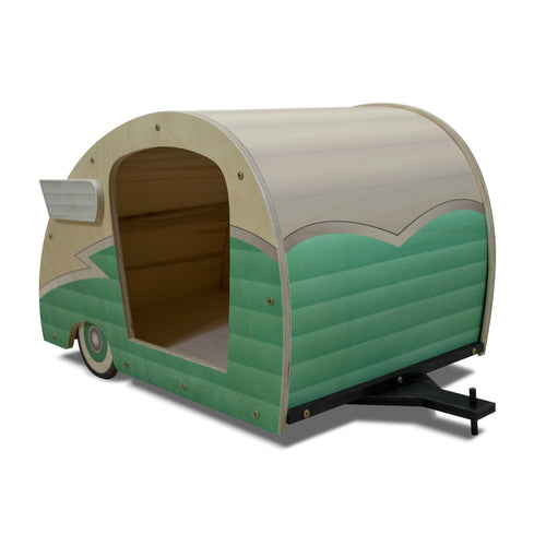 Retro Shasta Trailer - Pet Bed - Seafoam Green DaydreamHQ Gift Seafoam Green