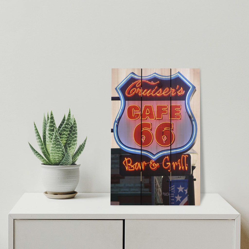 Cafe 66 - Photography on Wood DaydreamHQ Photography on Wood 16x24
