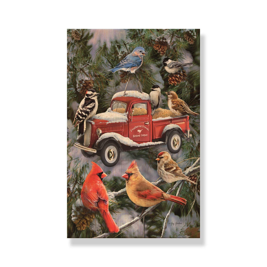 Giordano's Pickup Feeder - Mailable Wood Christmas Cards - Single Image Multipack DaydreamHQ