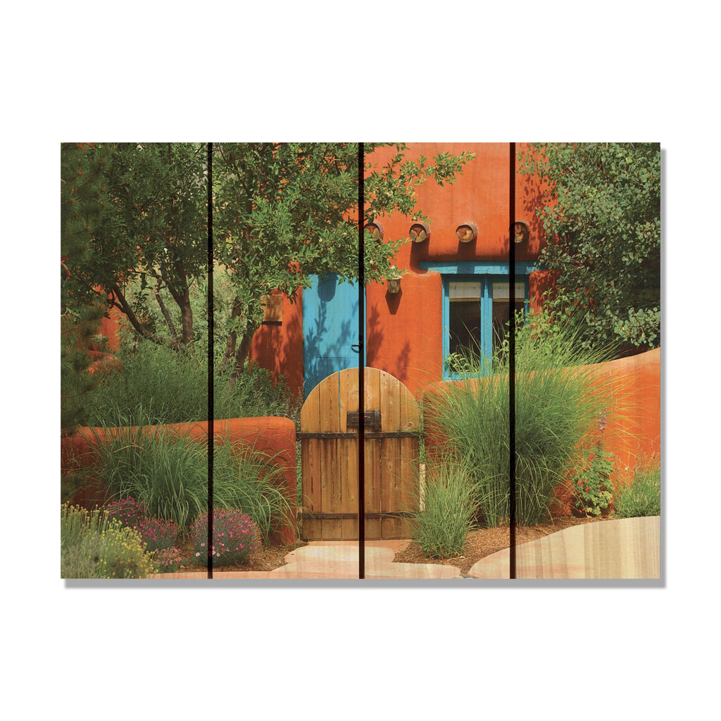 "La Casa - Colorful Wood Wall Art DaydreamHQ FenceEscape 22""x16"""