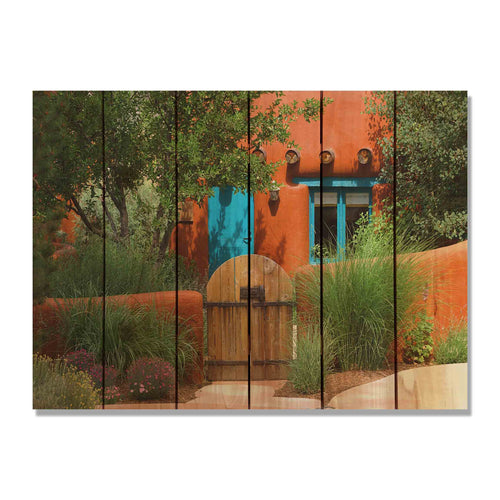 "La Casa - Colorful Wood Wall Art DaydreamHQ FenceEscape 33""x24"""