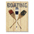 Boating Paddles - Canoe Wood Wall Decor DaydreamHQ 11x15