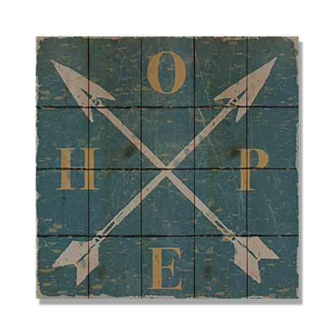 "Hope Wood Arrows - 17x17"" Lake Cabin Welcome Sign"