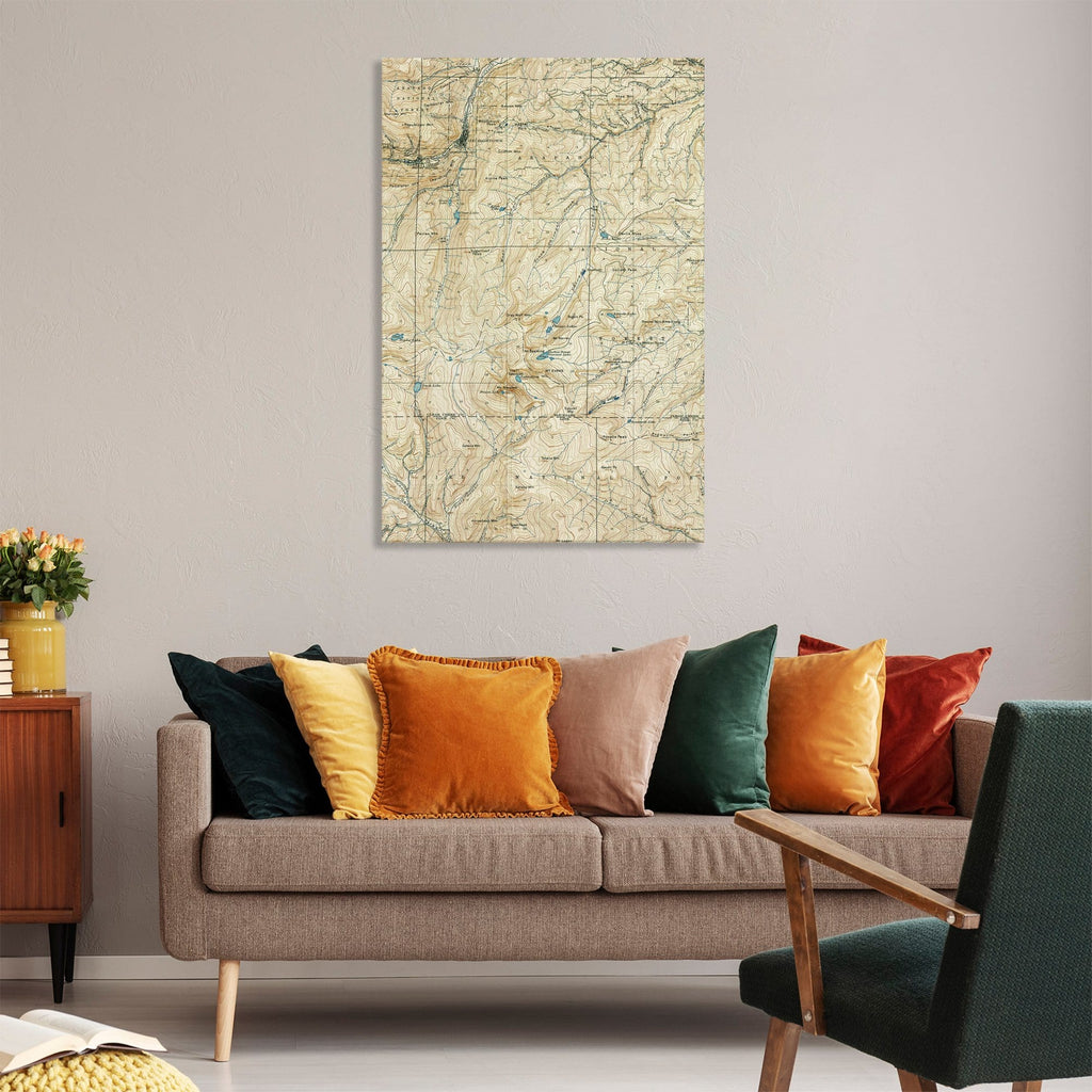 Georgetown, Colordao Map from 1903 DaydreamHQ Grand Wood Wall Art 32x48
