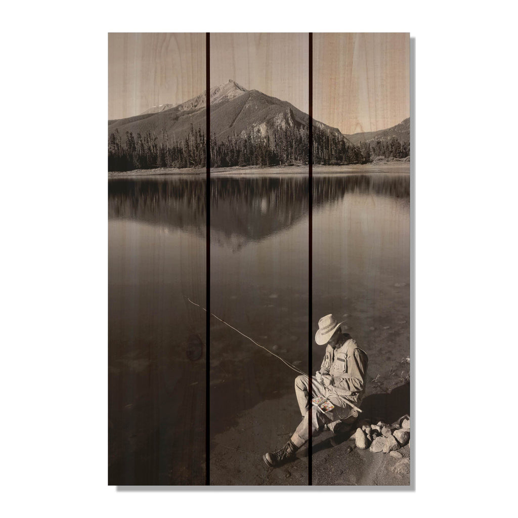 My Space - Fishing Wood Wall Art DaydreamHQ FenceEscape 16x24