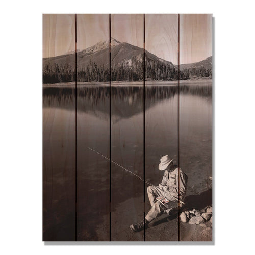 My Space - Fishing Wood Wall Art DaydreamHQ FenceEscape 28x36